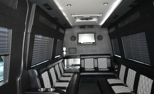 Interior of 12 Passenger Sprinter from Butterfield Limo