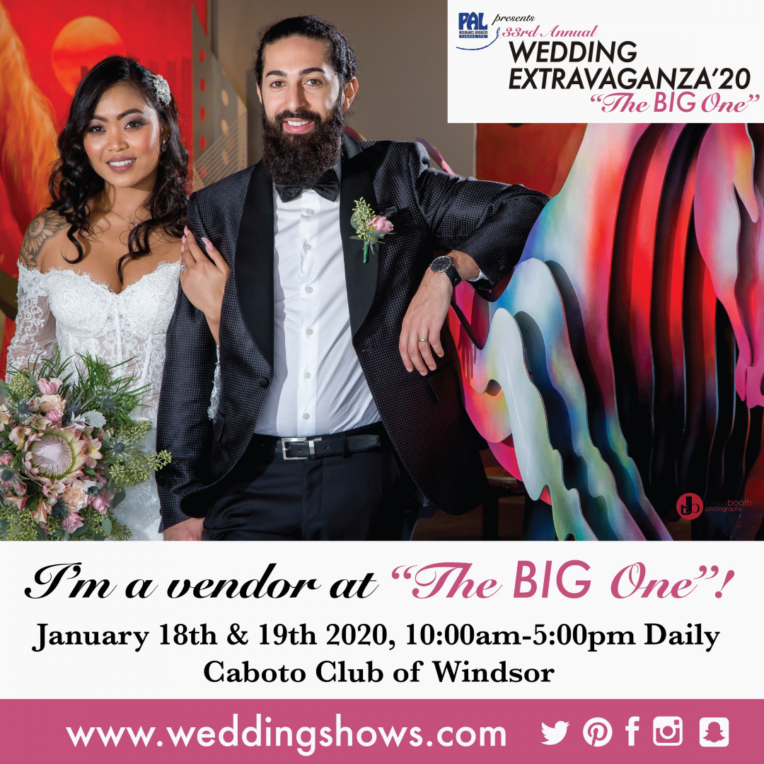 We Are a Proud Vendor for the Wedding Show 2020